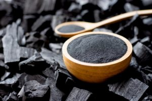 a bowl full of activated charcoal