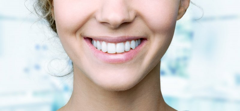 Woman after cosmetic dentistry in Peabody