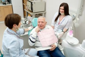 man knows the importance of routine dental checkups